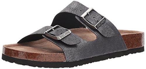 Missus Granola Riemen Klassisch Hippie Damen Gunmetal Skechers41077 Bequem Zwei Sandale Reinschlüpfen Zum 5p6qH