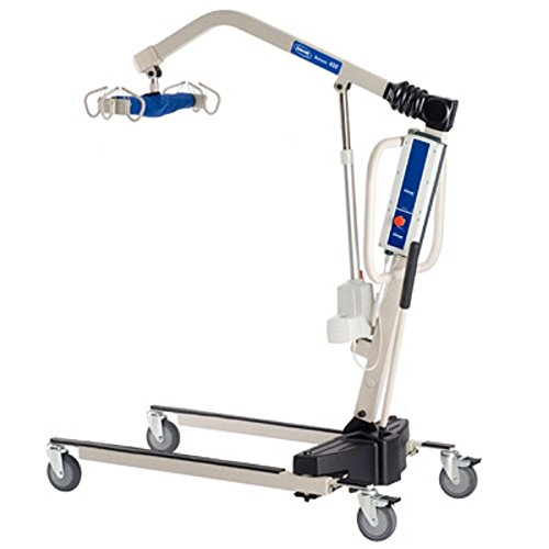 Powered Lift Tables - Invacare Power Body Patient Lift Reliant 450 Battery-Powered Lift with Low Base - RPL4501 With Invacare Overbed Table - 6417 Bundle