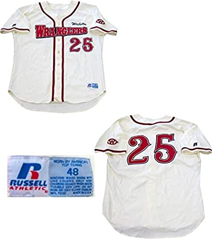 size 40 c9d0a f5047 Alex Gordon Unsigned Game Used Wichita Wranglers Jersey ...
