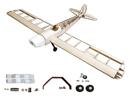 Radio Controlled Rc Model Airplane (RC Airplane 4CH Radio Remote Controlled Electronic&Gas Aircraft Laser Cut Balsa Wood Plane Model Wingspan 1230mm Space Walker Building Kit + Power System)