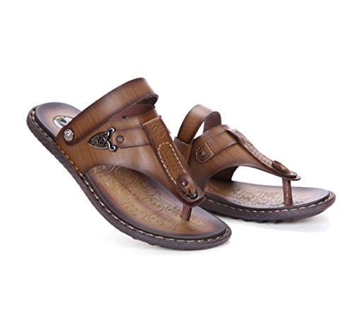 da Toe Uomo Scarpe Pantofole Casual Sandali Scarpe da Open Brown LEDLFIE da Spiaggia Scarpe Uomo Iwv8qOgE