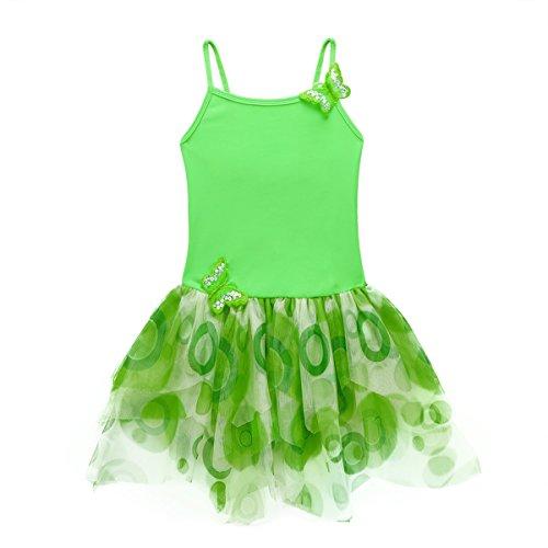 CHICTRY Girls' Glitter/Butterfly Cotton Camisole Tutu Dance Ballet