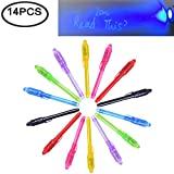 Invisible Ink Pen, Spy Pen Secret Message Writer with uv Light Magic Marker for Drawing Fun Activity Kids Party Favors Ideas Gifts and Stock Stuffer (Pen)