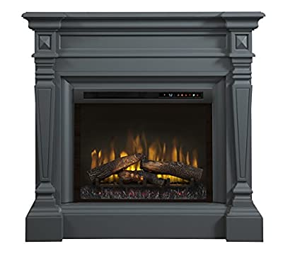 DIMPLEX Heather Electric Fireplace Mantel with Logs Wedgewood GREY/1500