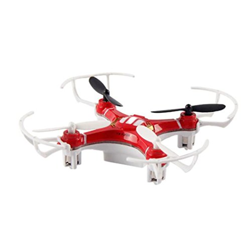 Tiean Mini Explorers RC Quadcopter 4CH 2.4GHz 6-Axis Gyro LED Drone 3D Flying (Red) by Tiean
