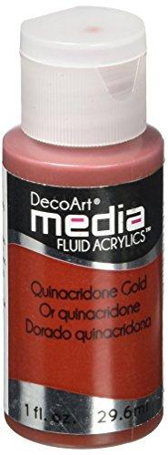 Deco Art Media Fluid Acrylic Paint, 1-Ounce, Quinacridone Go
