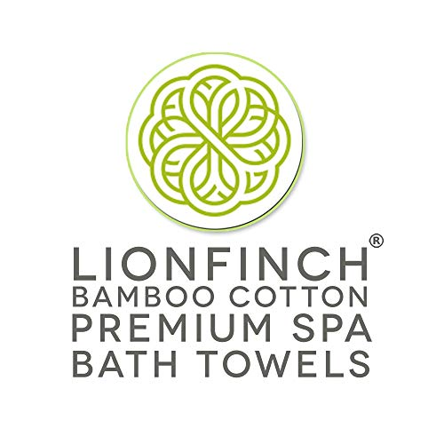 LionFinch Premium Bamboo Cotton Towels- Set of 4. Super Soft Absorbent Plus Mold Mildew Resistant. 54 inches Long 27 inches Wide. Easy to Wash Dry. by LionFinch (Image #7)