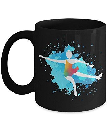 Figure Skating Holiday Costumes (Shirt White Figure Skating Cute Skater Figure on Ice Coffee Mug 11oz Black)