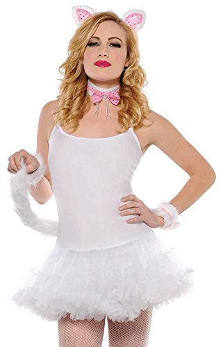 [Amscan Womens Princess Kitty Set Halloween Costume Accessory] (Sexy Sequin Kitty Costumes)