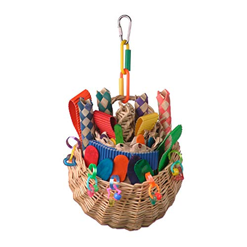 Wicker Foraging Basket Bird Toy