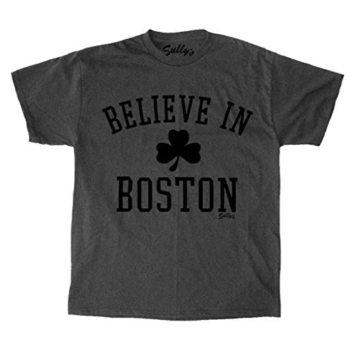Sully's Brand Believe in Boston - Classic Shamrock - Charcoal T-Shirt