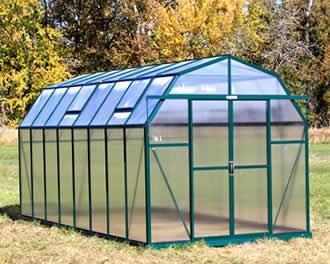 [Grandio Elite 8x16 Greenhouse Kit - 10mm Twin-Wall Polycarbonate] (Backyard Hobby Greenhouse)
