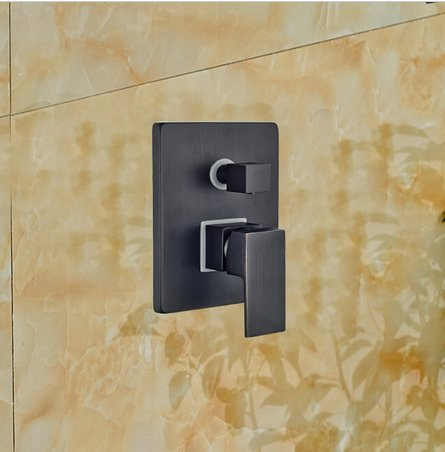 GOWE Contemporary Oil Rubbed Bronze LED Waterfall & Rainfall Shower Faucet 3 Ways Mixer Valve W/ Hand Shower by Gowe