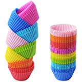 Reusable Baking Cups,Silicone Baking Cups Cupcake Liners Muffin Cases Silicone Muffin Liners Muffin tin Cups Moulds(24pcs)