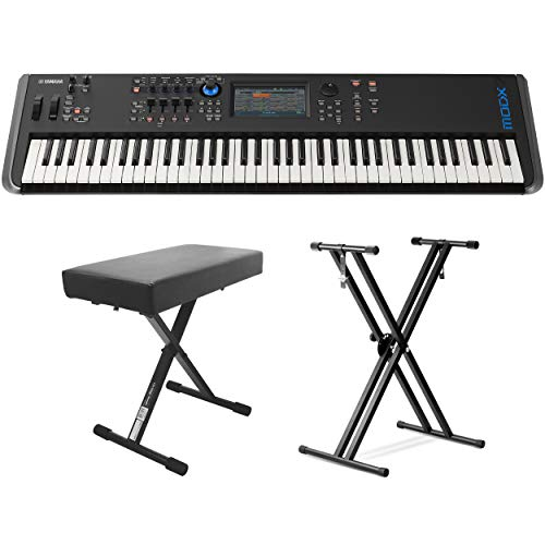 Yamaha MODX8 88-Key Weighted Action Synthesizer (With Keyboard stand & Bench)