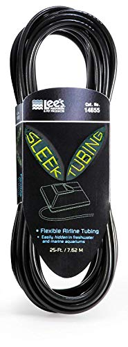 Lee's Sleek Airline Tubing, 25-Foot, Black (2 Pack) ()