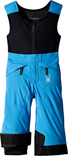 Blue Pant Expedition (Spyder Boys' Mini Expedition Ski Pant, French Blue/Black/Black, Size 6)