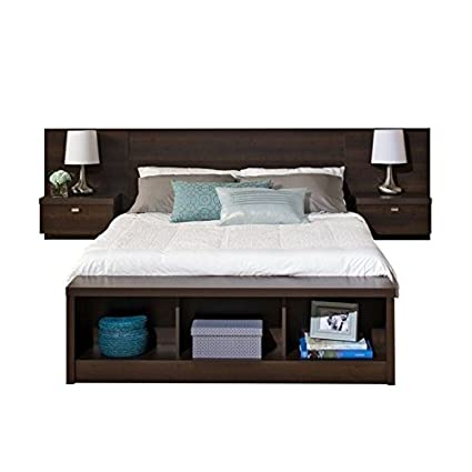 Amazon.com: Bowery Hill King Platform Storage Bed with Floating ...