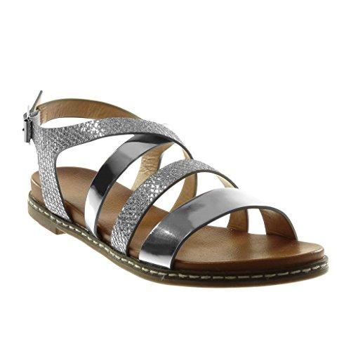 Sandalo Tacco Donna Angkorly Tacco Sandalo 3 Caviglia Briglia Multi a alla Blocco   c69572
