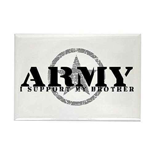 CafePress Army I Support My Brother Rectangle Magnet, 2