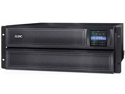 APC SMX3000HVNC Smart-UPS X 3000 Rack/Tower LCD - UPS ( rack-mountable / external ) - AC 230 V - 2700 Watt - 3000 VA - Ethernet 10/100, RS-232, USB - 10 output connector(s) - 4U - with APC UPS Network Management Card AP9631 (Apc Smart Ups 3000 External Battery Pack)