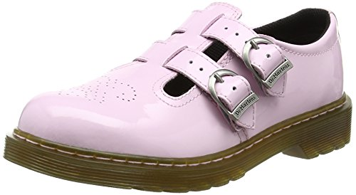 Pink Patent Jane Mary (Dr. Martens Girls' 8065 Mary Jane Junior,Baby Pink Patent Lamper,UK 11 M)