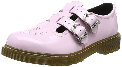 Dr. Martens 8065 J, Salomés Mixte Enfant, Rose (Baby Pink Patent Lamper), 34 EU