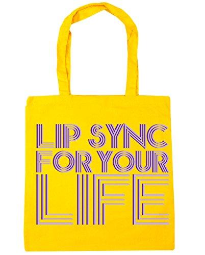 life Gym Beach your Shopping 42cm litres Yellow x38cm Bag HippoWarehouse for sync Lip Tote 10 gxq8w0IHU