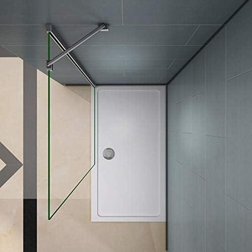 Mamparas de Ducha Frontales Puerta Fijo WALK IN Antical 8mm Cristal Barra 45cm 50x200cm: Amazon.es: Bricolaje y herramientas