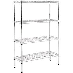 AmazonBasics 4-Shelf Shelving Unit - Chrome