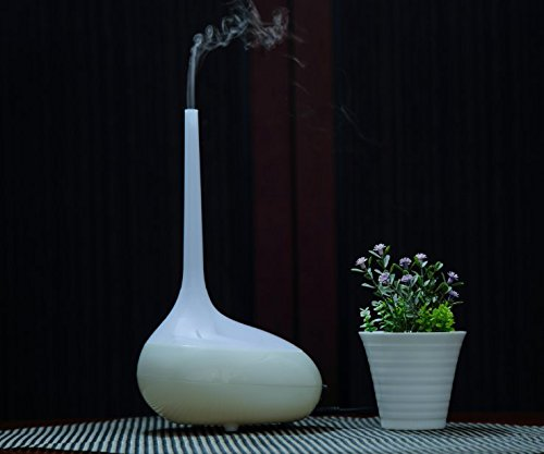 Accuni 300ml Cool Mist Humidifier Ultrasonic Aroma Essential Oil Diffuser for Office Home Bedroom Living Room Study Yoga Spa (Style1)