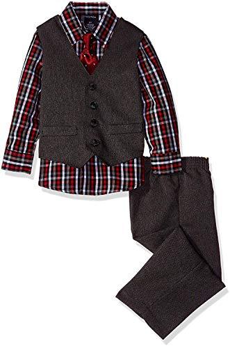 Nautica Dressy Vest Set, Red, 4T by Nautica