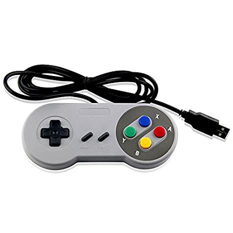 SUPER NES USB SNES Style CONTROLLER FOR PC, MAC & EMULATOR