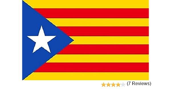 Cataluña independencia ESTELADA BLAVA BANDERA 5ft x 3ft Grande ...