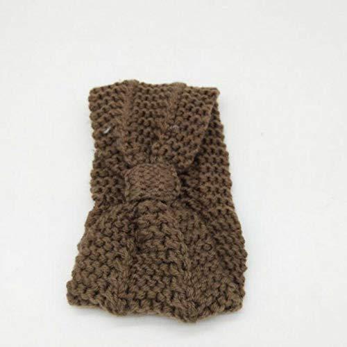 Women Crochet Headband Knit Flower Hairband Ear Warmer Winter Headwrap Fashion (Color - Camel)
