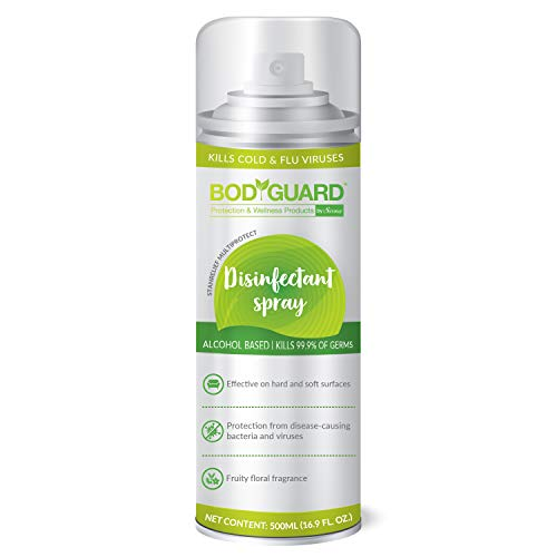 BodyGuard Disinfectant Sanitizer Spray for Multi-Surfaces, Alcohol Based – (500 ml)