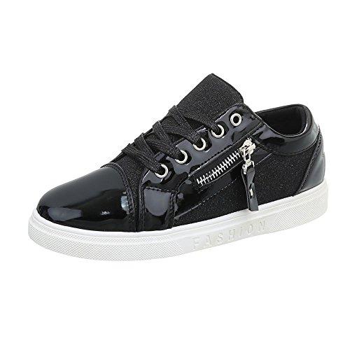Italien design N Noir Chaussures Sneakers Casual Bas 4 Femmes 4CRzRwq5xE