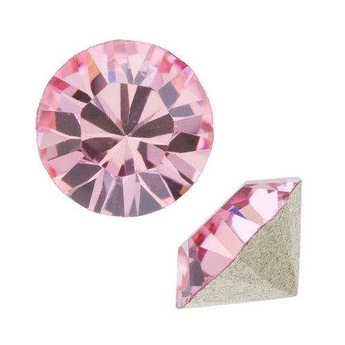 Swarovski Crystal, #1088 Xirius Round Stone Chatons ss39, 6 Pieces, Lt Rose (Swarovski Chaton Rose)