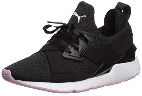 PUMA Women's Muse Sneaker Black-Pale Pink, 10.5 M US
