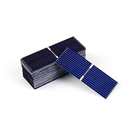 Generic Polycrystalline DIY 0.17W Solar Panel, 52x19mm (Blue, JS-5219100) - Set of 100
