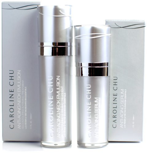 Caroline Chu Anti-Aging Face Serum and Neck Emulsion Duo, 2.7 Ounce by Caroline (Serum Anti Aging Emulsion)