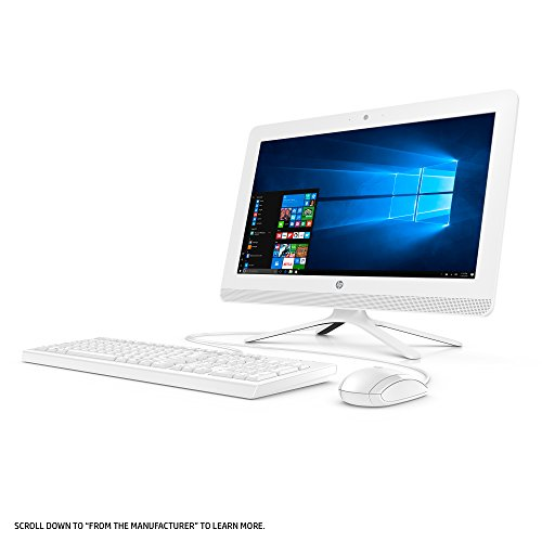HP 19-inch All-in-One Computer, Intel Celeron J3355, 4GB RAM, 1TB hard drive, Windows 10 (20-c210, White) by HP (Image #3)