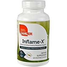 Zahler Inflame-X, Advanced Inflammation Reducer, Contains Turmeric Boswellia and much more which acts as a powerful Anti-Inflammatory Supplement, Certified Kosher, 120 Capsules