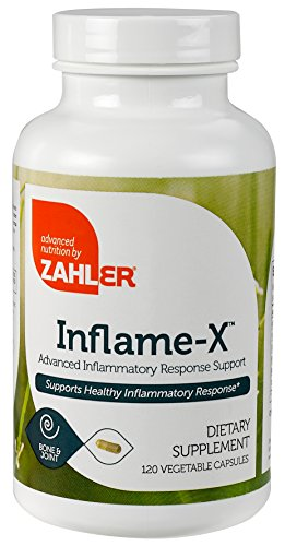 Zahler Inflame-X, Advanced Inflammation Reducer, Contains Turmeric Boswellia and much more which acts as a powerful Anti-Inflammatory Supplement, Certified Kosher, 120 Capsules (Anti Inflammatory Pain Reliever)
