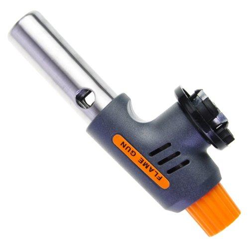 "Generic Multi Purpose Torch Piezo Igniting Ignition Melting Tool Spray Gun 5.9"" x 2.2"" x 1.2"" Gray, Orange"