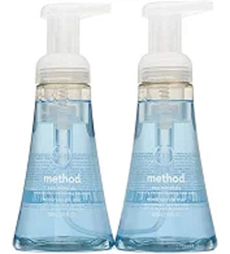 Method Naturally Derived Biodegradable Foaming Hand Wash, Sea Minerals Scent, Double Pack, 10 Fl. Oz Each, Total 20 Fl. Oz