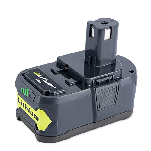 Biswaye 5000mAh 18V Lithium Ion Battery Replacement for Ryobi, for Ryobi 18-Volt ONE+ Cordless Power Tool Battery P108 P107 P102 P103 P104 P105 P109 P100
