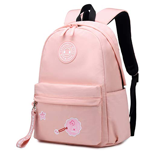 (Travel Daypack Backpack for Women, Girls School Backpack, with Anti-Theft Pocket and Trolley Strap, Fits 13.5 inch Laptop and Notebook (Light Orange))