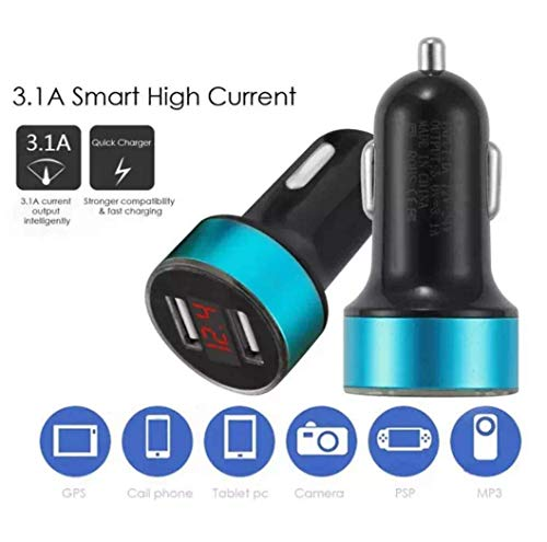 2 USB. Presa accendisigari per ricaricare Il Cellulare Delepower