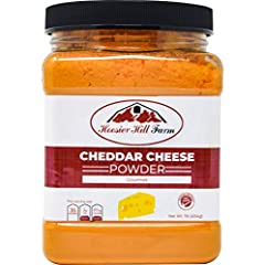 Hoosier Hill Farm Cheddar cheese powder is made by taking the moisture out of regular cheese. Three pounds of cheese makes two pounds of powder, producing a velvety smooth, rich flavor. Our best selling cheese powder is perfect for sprinkling...
